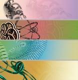 3d横幅彩色组 免版税库存照片