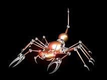 3d橙色机器人蝎子 向量例证