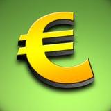 3d欧元符号 库存例证