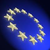 3d欧洲金黄星形 免版税库存图片