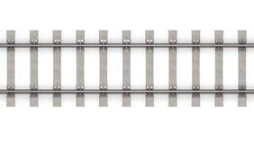 3d水平的铁路运输顶视图 皇族释放例证