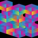 3d求彩虹的立方 图库摄影