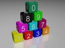 3d求橡胶的立方 免版税库存照片