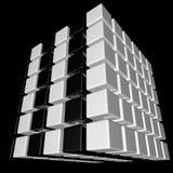 3d求难题的立方 库存照片