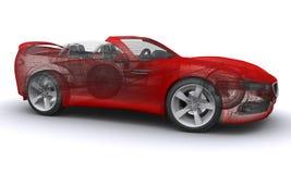 3d汽车概念回报了体育运动 库存照片