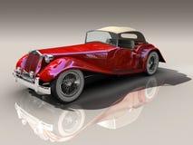 3d汽车设计红色葡萄酒 免版税库存照片