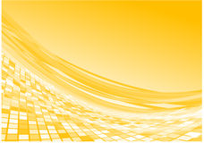 3d流向量黄色 免版税库存照片