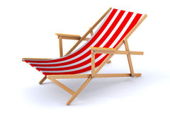 3d海滩睡椅 库存照片