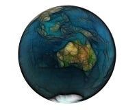 3d澳洲被弄脏的世界 库存图片