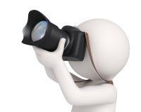 3d特写镜头摄影师 免版税库存图片