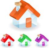 3d玻璃房子 免版税库存图片