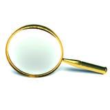 3d玻璃扩大化 免版税库存照片