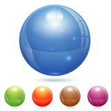 3D玻璃球 库存图片