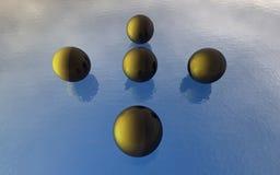 3d球水 免版税库存照片