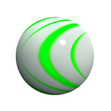 3d球状的按钮 免版税库存图片