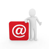 3d电子邮件人 免版税库存图片