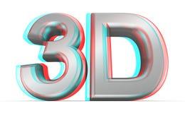 3D电影概念。 皇族释放例证