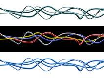 3d电缆查出多彩多姿的集 皇族释放例证