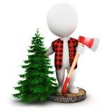 3d白人伐木工人 免版税图库摄影