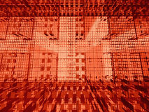 3d矩阵红色 向量例证
