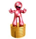 3d硬币形象金图标堆 免版税库存图片