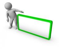 3d空白框架人 向量例证