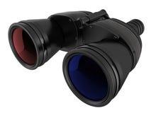 3d立体声双筒望远镜 库存照片