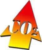 3d箭头二氧化碳 向量例证