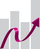 3d箭头例证紫色向量 免版税库存照片