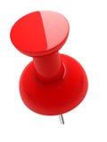 3D红色光滑的图钉 免版税库存图片