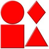 3d红色形状 免版税图库摄影