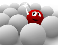 3d红色面带笑容 库存图片