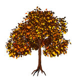 3d结构树黄色 库存例证