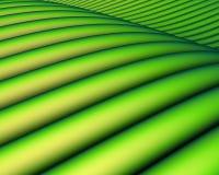 3d绿色横向回报倾斜 免版税库存照片