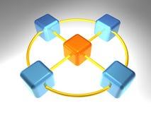 3d网络节点 皇族释放例证