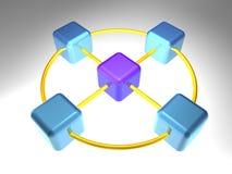 3d网络节点 库存例证