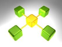 3d网络节点 向量例证