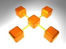 3d网络节点 免版税图库摄影