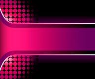 3d美丽的桃红色数据条 库存例证