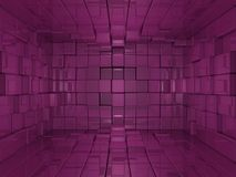 3d背景多维数据集粉红色世界 库存图片