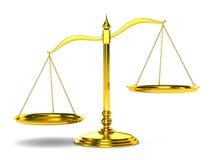 3d背景查出的正义称白色 库存例证