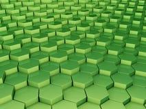 3d背景绿色 向量例证