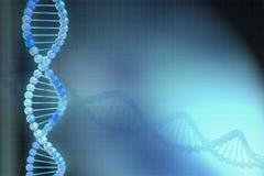 3d背景蓝色脱氧核糖核酸设计 图库摄影