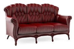 3d背景褐色椅子白色 免版税图库摄影