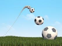 3d背景cg橄榄球 免版税库存图片