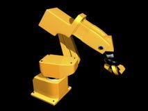 3d胳膊橙色机器人 皇族释放例证