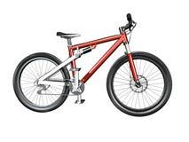 3d自行车查出的山 向量例证