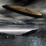 3d船空间飞碟 库存图片