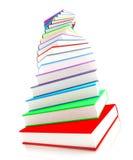 3d色的书设计大量 免版税库存照片