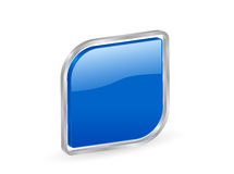 3d蓝色等高图标 免版税库存照片
